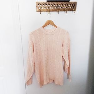 Vintage   cotton cable knit fisherman sweater